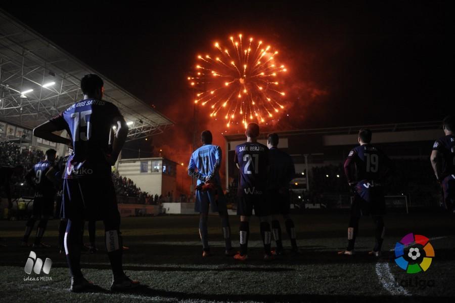 Enrich, a la izquierda, en los actos de fin de año tras el partido (Foto: laliga.es)