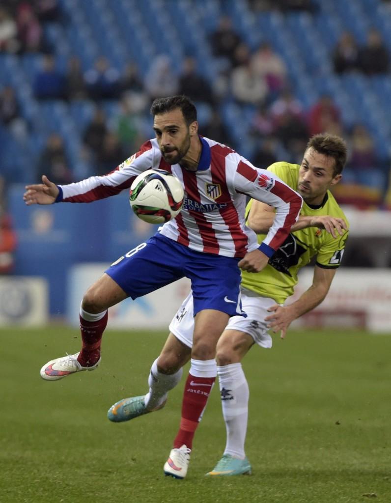 Rubén, en el partido de Copa ante el Atlético de Madrid.
