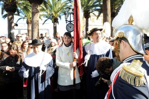 Momento justo antes de dar los 'Tres Tocs' el año pasado en Ciutadella. Foto: Tolo Mercadal.