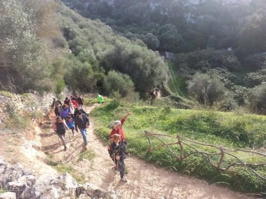 Vistas desde una de las cuestas que se subieron. Foto: GOB-Menorca.