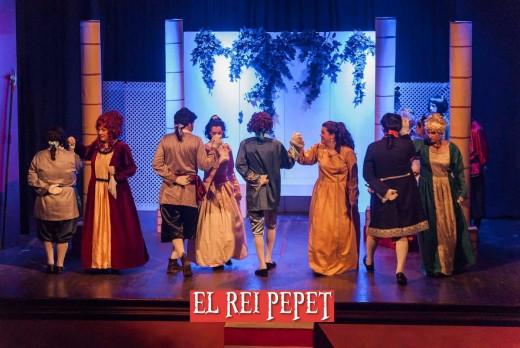Escena de 'El rei Pepet' durante una de las representaciones del año pasado. Foto: Tolo Frau (D9 Don Bosco).