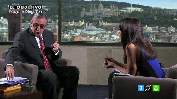 Diego Torres, en un momento de la entrevista.