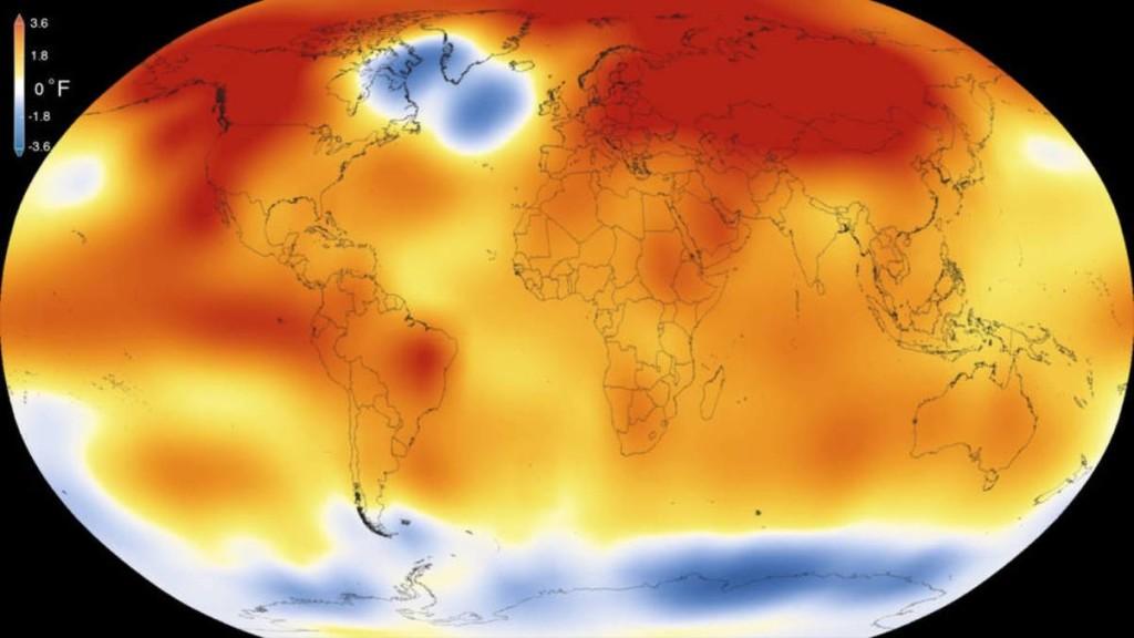 El planeta se calienta a una velocidad sin precedentes, más rápido de lo ocurrido en los últimos 65 millones de años. Foto: NASA.