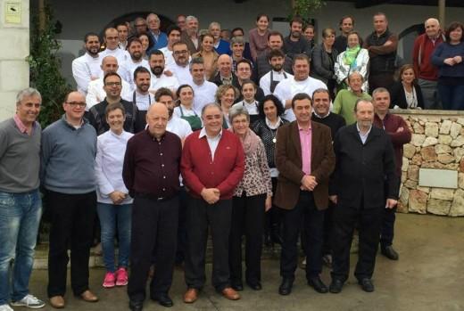 Participantes en el homenaje al chef Miquel Mariano, en una foto publicada por Tomás Cano en las redes sociales.