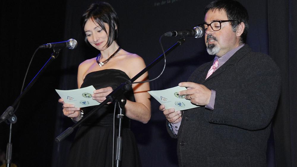 Caterina Bonet y Joan Salas, de la compañía D9 Don Bosco Teatre, fueron algunos de los presentadores de la noche.