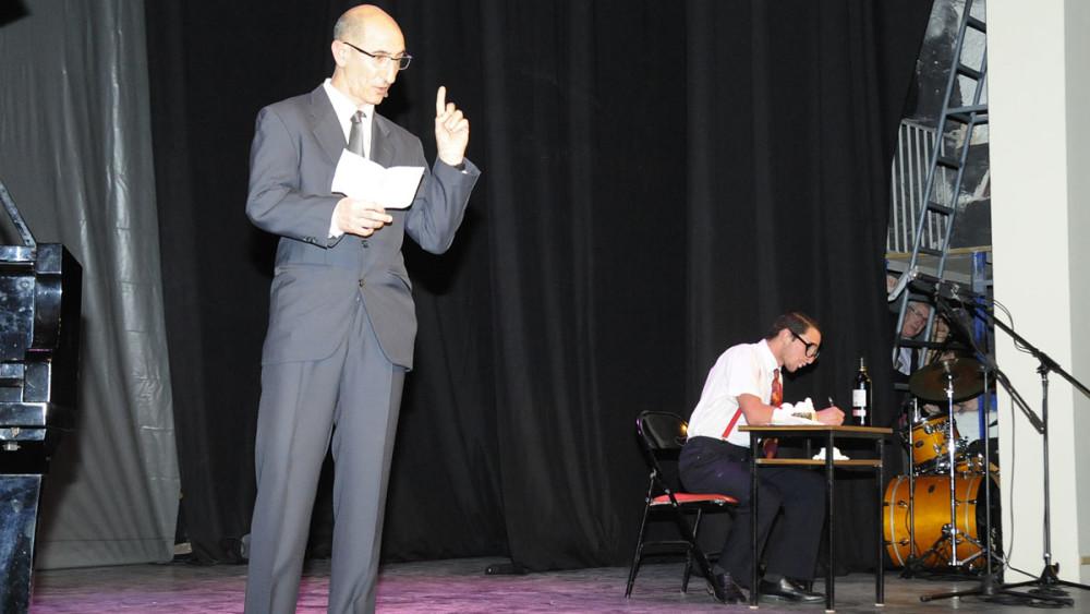 Miquel P. Fullana y Joan Marquès ofrecieron un divertido fragmento teatral.