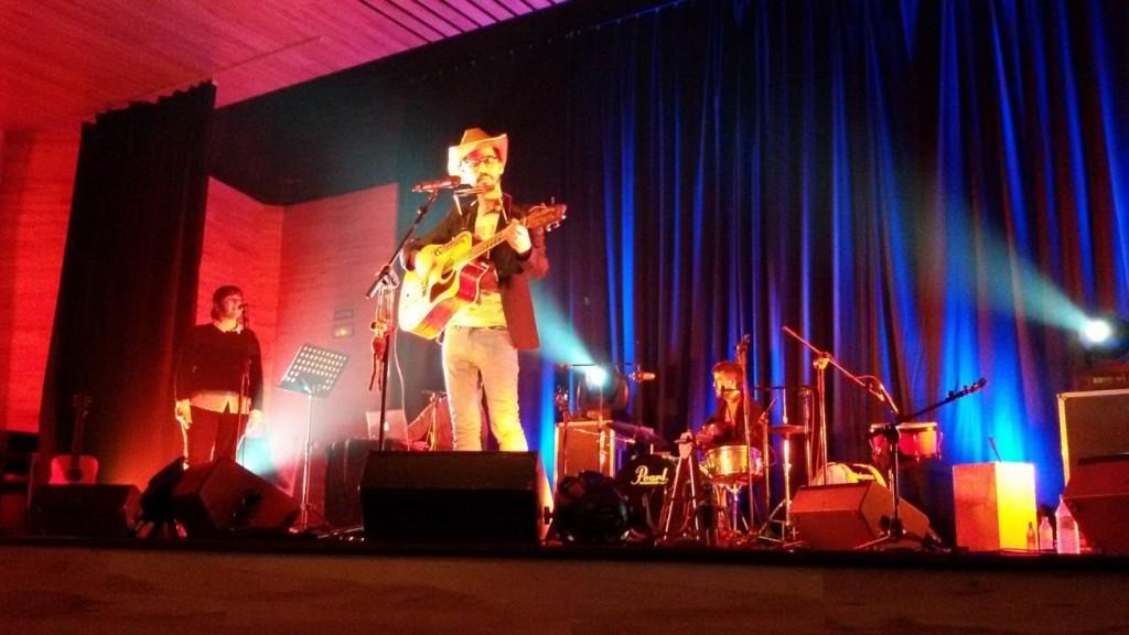 Leonmanso, durante un concierto (Foto: Esteve Barceló).