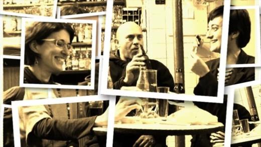 El trío Eudaimonia Ensemble está formado por dos flautistas y un contrabajista.