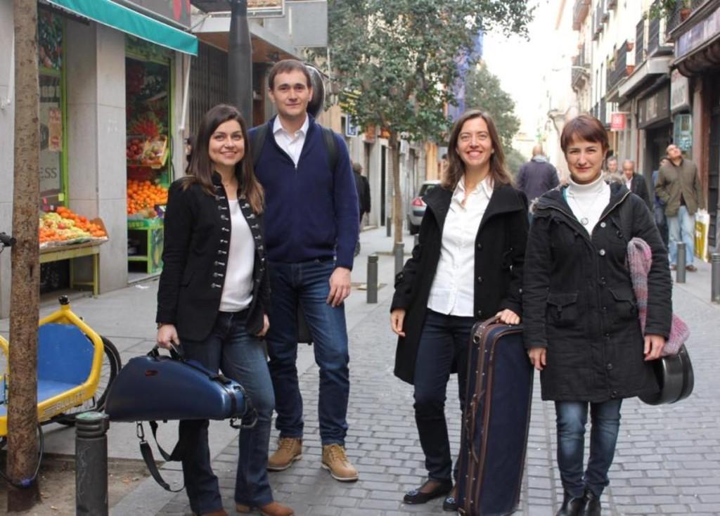 El cuarteto de cuerda AmarArt, con Assumpta Pons la segunda por la derecha. Foto: AmarArt.