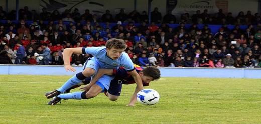 Partido entre el Manchester City y el Barça U15 de la pasada edición (Foto: deportesmenorca.com)
