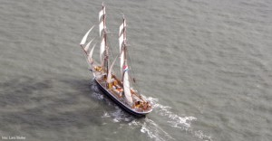 El barco destaca por su belleza.