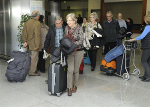 Los turistas llegaron en diferentes vuelos.