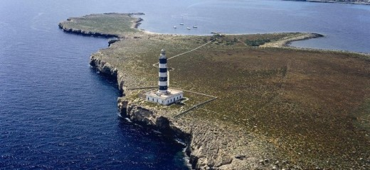 Faro de la Illa de l'Aire. Foto: Ports de les Illes Balears.