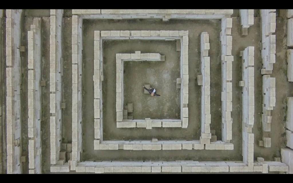 Espectacular imagen aérea del laberinto mineral de las canteras de Líthica. Foto: M.G.