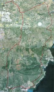 Mapa de la Ruta de las Tres Torres prevista. Foto: Asociación de Criadores y Propietarios de Caballos de Raza Menorquina.