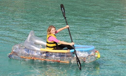 Olivia Moll en un momento de su reto de octubre pasado. Foto: Caroline Pinnell.