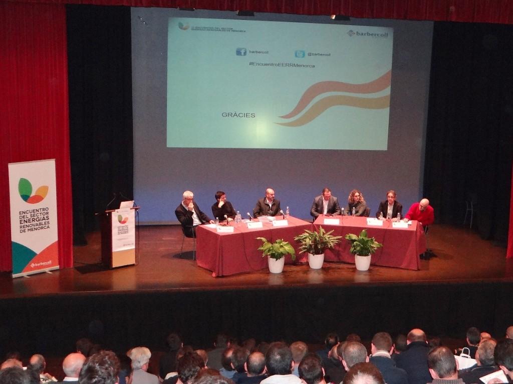 Imagen de la última edición del Encuentro de Eenrgías Renovables de Menorca, celebrado en Es Mercadal.