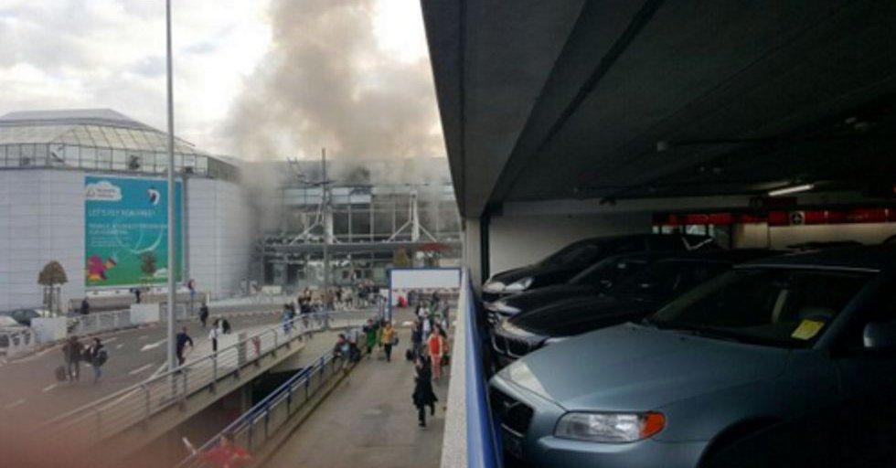 Primeras imágenes de las explosiones en el aeropuerto belga.