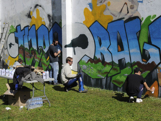 Grafitis para celebrar el Dia de Balears