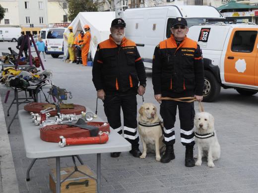 Protección Civil de Maó se hace visible en la Esplanada