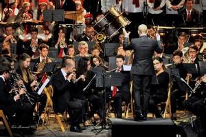 La Banda de Ciutadella en uno de sus conciertos de Navidad anteriores. Foto: B.M.M.C.