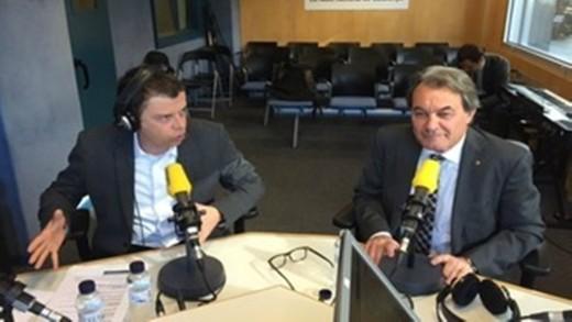 Francesc Mauri y Artur Mas en Catalunya Ràdio.