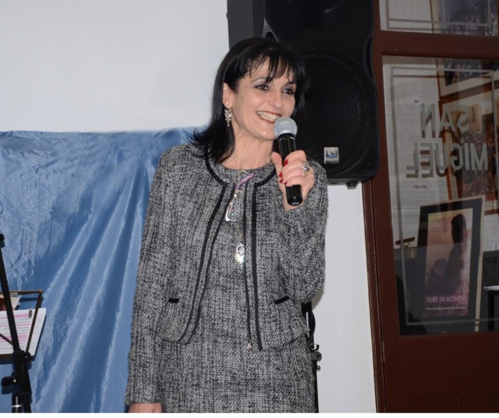 Joana Bagur en un recital reciente en Sant Miquel de Ciutadella.