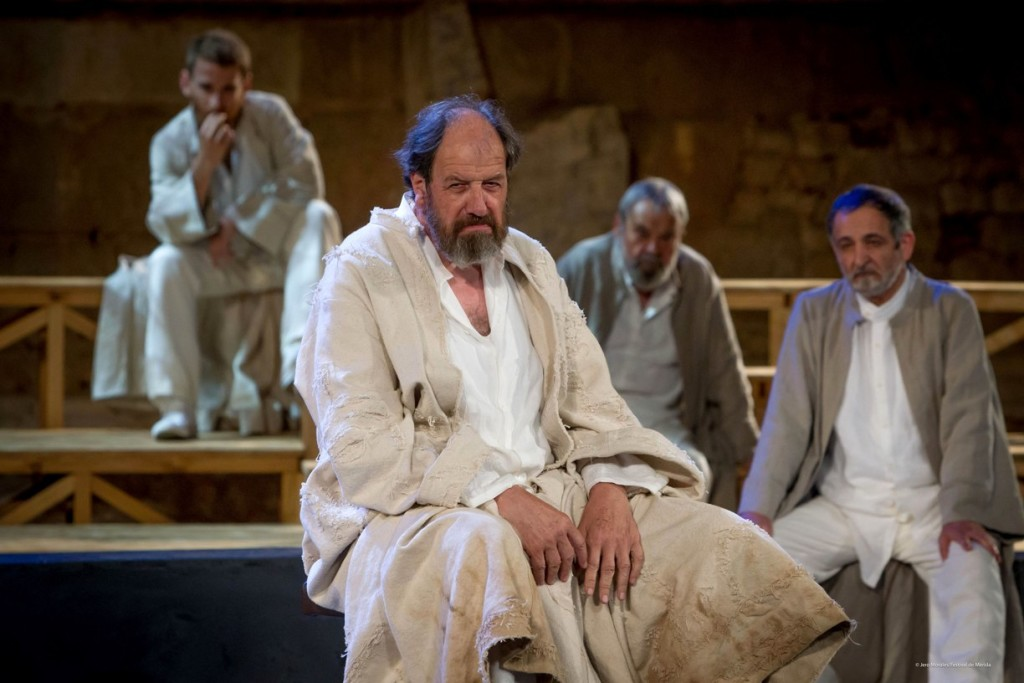 Josep Maria Pou interpreta el papel de Sócrates. Foto: Jero Morales.