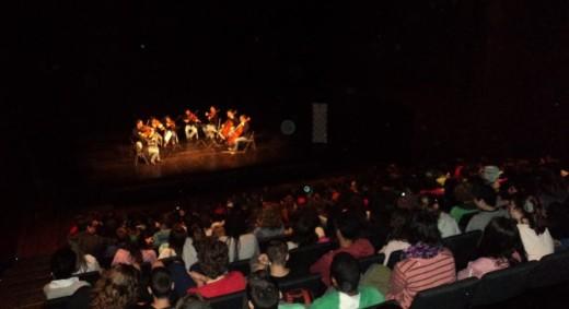 Momento de la actuación de la OCIM en la mañana de este jueves en el Auditori de Ferreries. Foto: JJMM-Maó.