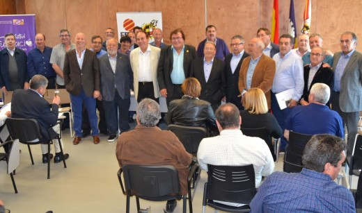 Imagen de la junta directiva que acompañará estos cuatro años a Miquel Bestard (Foto: FFIB)