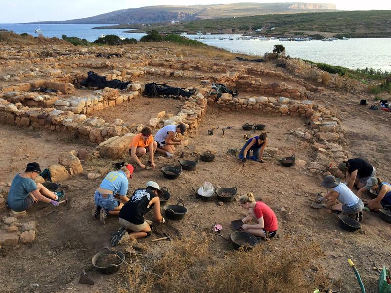 El antiguo poblado romano de Sanisera en Menorca