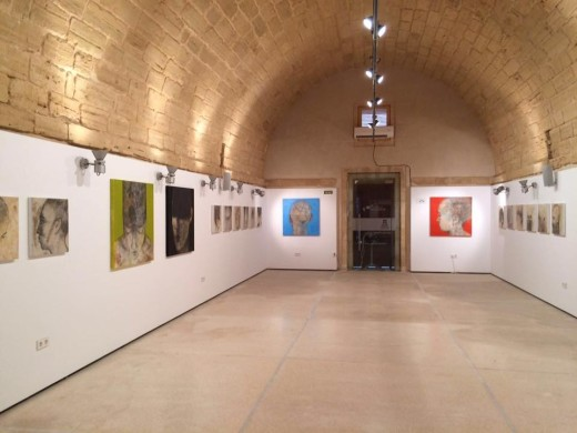 La sala Es Polvorí de Eivissa con las obras de Florit Nin. Foto: F.F.N.