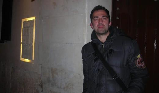 El escritor Pere Cervantes en Ciutadella cuando vino a presentar 'No nos dejan ser niños'.