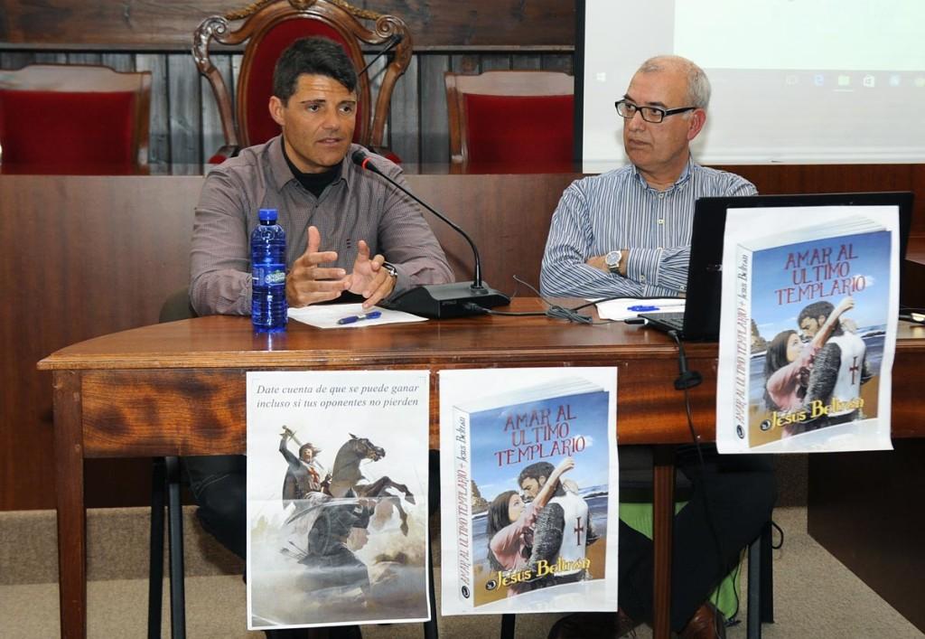 Momento de la presentación de 'Amar al último templario'. Foto: Tolo Mercadal.