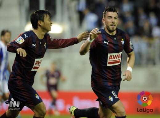 Sergi Enrich celebra el gol del empate (Fotos: laliga.es)