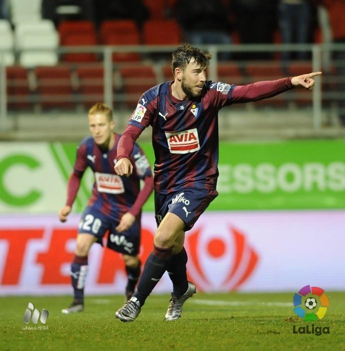 Sergi Enrich celebra un gol durante esta temporada (Foto: laliga.es)