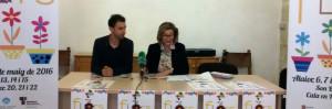 La alcaldesa Coia Sugrañes y el concejal Rafel Quintana, presentando el evento.