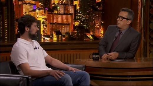 Llull, en un momento de la entrevista con Buenafuente (Fotos: Late Motiv)
