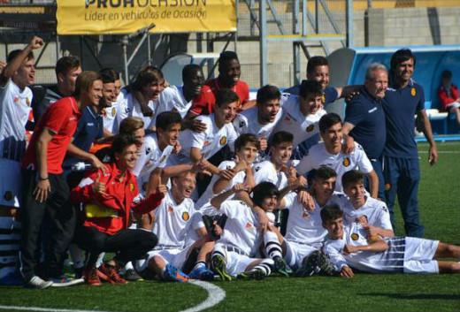 Celebración del Mallorca tras el título (Foto: sportsdecanostra.com)