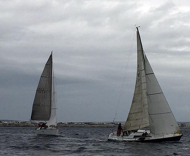 Momento de una de las regatas.