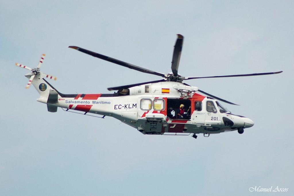 Imagen de un helicóptero de Salvamento Marítimo.
