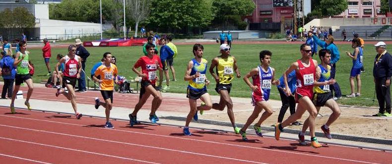 Imagen de la prueba de los 3.000 metros masculinos.
