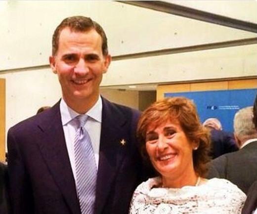 Aurora Herráiz ya se ha visto con el rey Felipe VI con motivo de la Farmacia Llabrés.