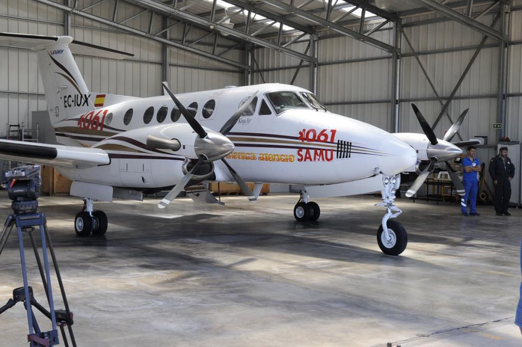 Avión-ambulancia con base en Maó.