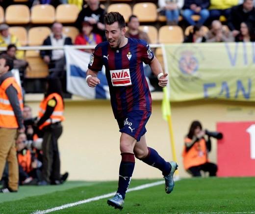 Enrich celebra un gol ante el Villarreal (Foto: laliga.com)