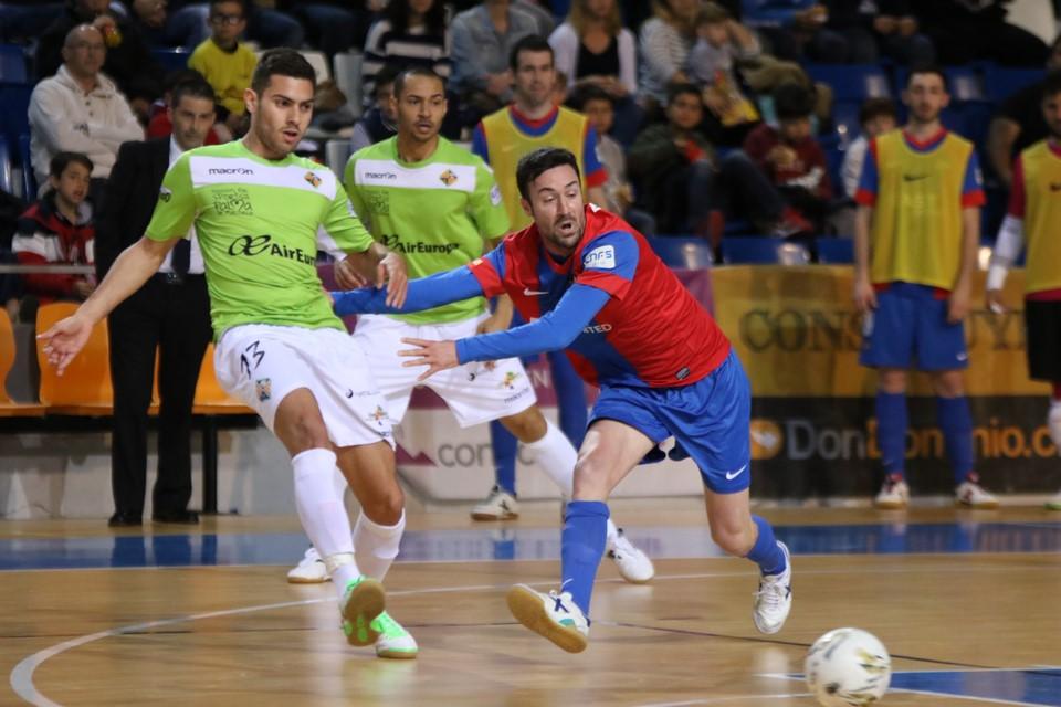 Acción de un partido del Palma Futsal de la presente temporada (Foto: Palma Futsal)