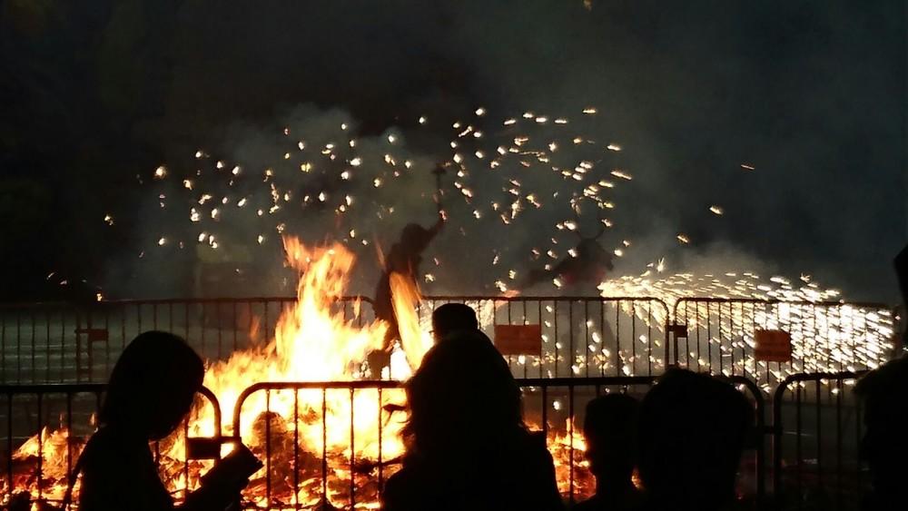 Imagen de archivo de uno de los espectáculos pirotécnicos