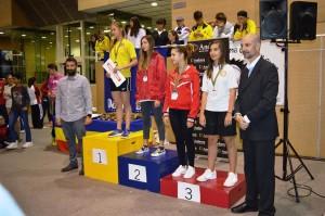 Laia Taltavull, en el podio.