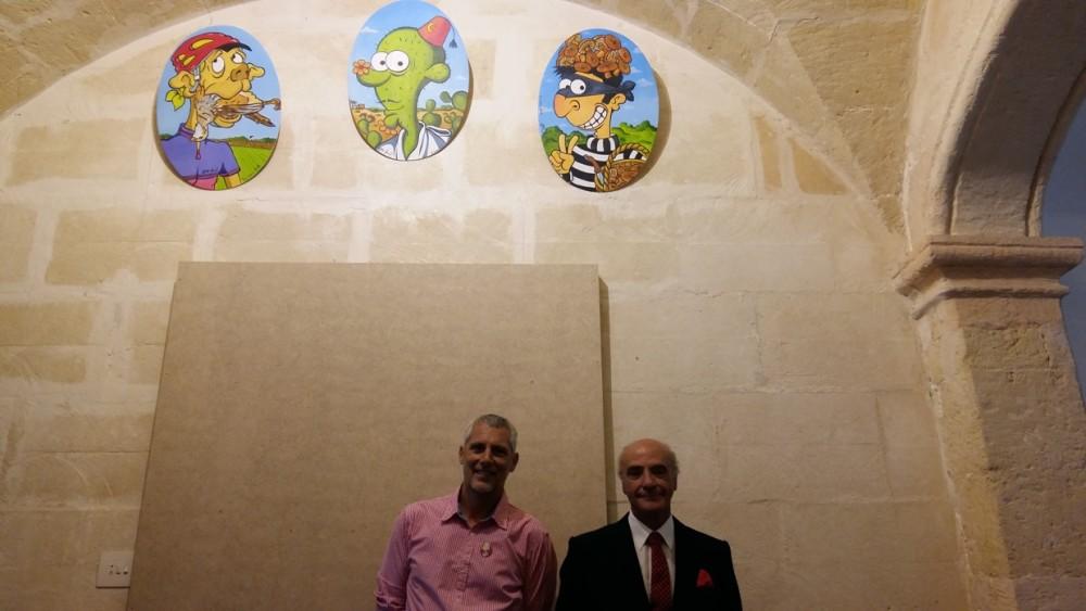 Marc Jesús y Llorenç de Salort junto a tres de las carotes de este año. Fotos: Joan Mascaró M.