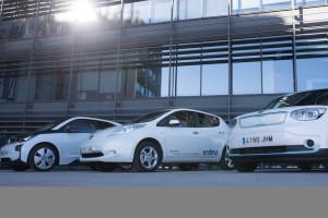 Flota de vehículos eléctricos recién estrenados por Endesa.
